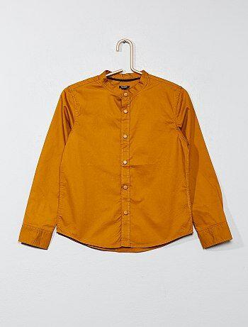 Camisa lisa em popelina - Kiabi