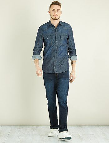 Homem tamanhos grandes - Camisa regular de ganga +1m90 - Kiabi