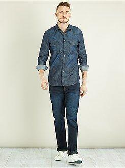 Homem com mais de 1,90m de altura - Camisa regular de ganga +1m90 - Kiabi
