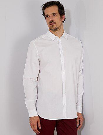 Camisa regular de sarja - Kiabi