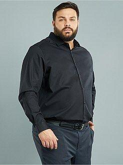 Camisa regular em algodão dobby