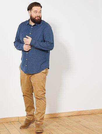 39d0436e8 Homem tamanhos grandes - Camisa regular em piqué - Kiabi