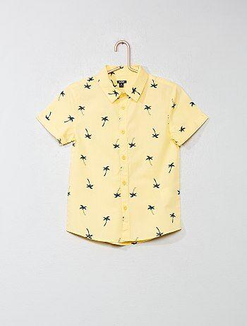 Menino 3-12 anos - Camisas com estampado em popelina - Kiabi a62d0d3bcbb