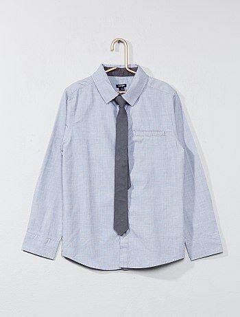 Camisas de manga comprida + gravata - Kiabi