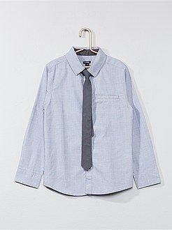 Camisa - Camisas de manga comprida + gravata