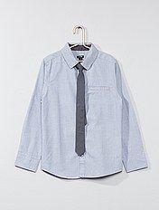 Camisas de manga comprida + gravata