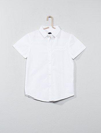 Camisas de manga curta em popelina de algodão - Kiabi