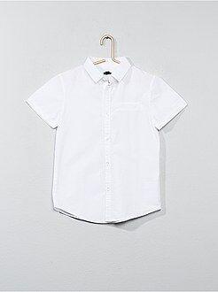 Camisa - Camisas de manga curta em popelina de algodão