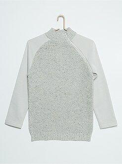 Camisola, casaco - Camisola bi-matéria - Kiabi