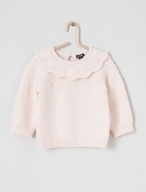 Camisola com cabeção                                                     rosa claro