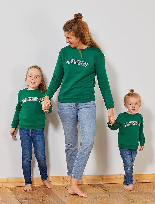 Camisola com estampado à frente                                                                                                                                                     Verde Mulher do 34 até 48