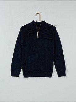 Camisola, casaco - Camisola com gola de fecho - Kiabi