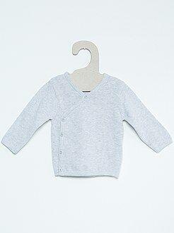 Camisola de bebé de malha fina em puro algodão