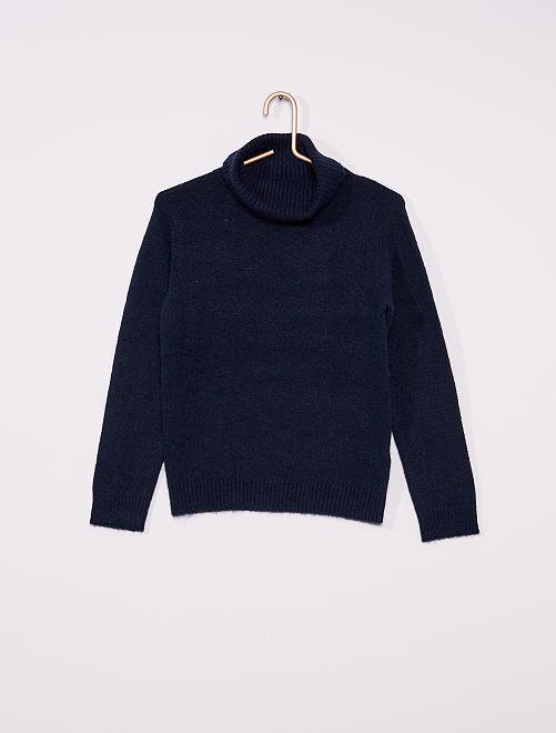 Camisola de gola alta                                             Azul Marinho
