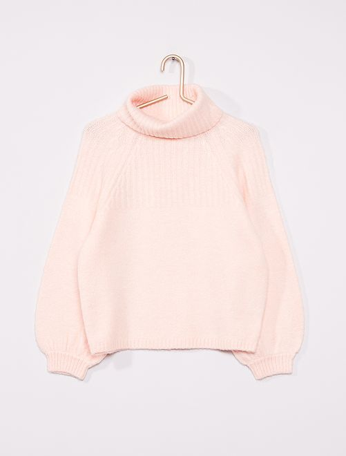 Camisola de gola alta                             Rosa