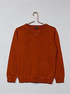 Camisola, casaco - Camisola de malha fina com gola redonda - Kiabi