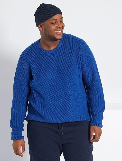 Camisola em malha 'de conceção ecológica'                                         Azul