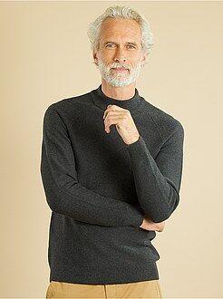 Camisola, casaco tamanho l - Camisola em malha fina de puro algodão - Kiabi