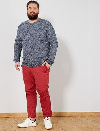 Homem tamanhos grandes - Camisola em malha mesclada Eco-conception - Kiabi 995f6caa9684a