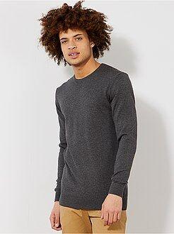 Camisola, casaco tamanho xl - Camisola leve com gola redonda - Kiabi