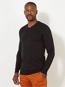 Camisola, casaco - Camisola leve de algodão com decote em V +1,90m - Kiabi