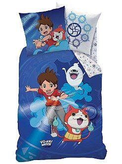 Roupa de cama criança - Capa de edredão + capa de travesseiro 'Yo-Kai Watch' - Kiabi