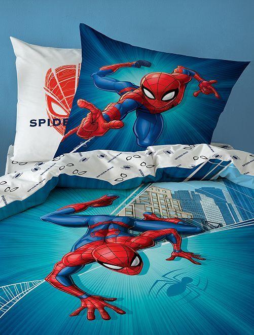 Capa de edredão de solteiro 'Homem-aranha'                             Azul