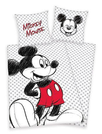 Capa de edredão e fronha de solteiro 'Mickey Mouse' - Kiabi