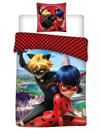 Capa de edredão + fronha 'Miraculous Ladybug' - Kiabi