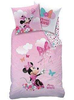 Roupa de cama criança - Capa de edredão + fronha reversível 'Minnie' - Kiabi