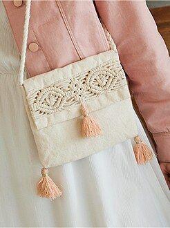 Mochila , avental de escola - Carteira em macramé - Kiabi