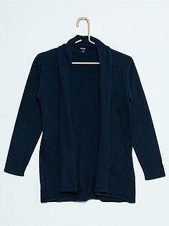 Camisola, casaco - Casaco aberto gola tipo xaile