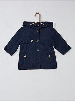 Casaco, blusão - Casaco com capuz com botões - Kiabi