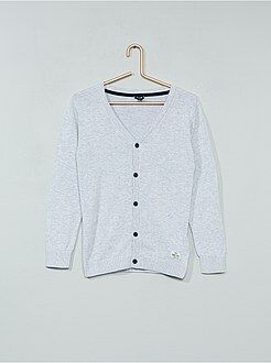 Camisola, casaco - Casaco decote em V puro algodão - Kiabi