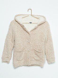 Camisola, casaco - Casaco em malha peluda - Kiabi