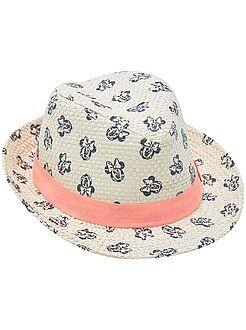 Acessórios - Chapéu borsalino com estampado 'Minnie'