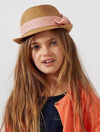 Menina 3-12 anos - Chapéu borsalino com riscas - Kiabi 1ffafd91a03