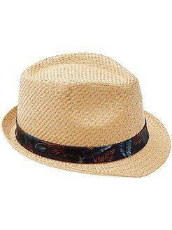 Chapéu borsalino de palha - Kiabi
