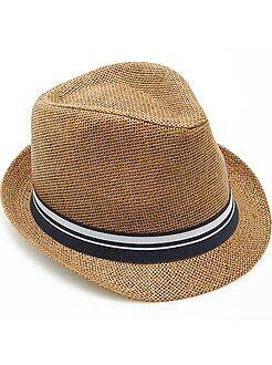 Acessórios - Chapéu borsalino fita às riscas