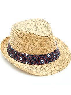 Acessórios - Chapéu borsalino fita bordada 'wax'