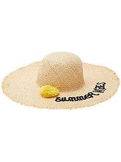 Acessórios preto - Chapéu capelina com pompom - Kiabi