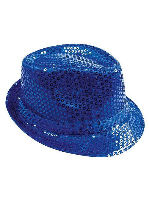 Chapéu com lantejoulas                                                     Azul