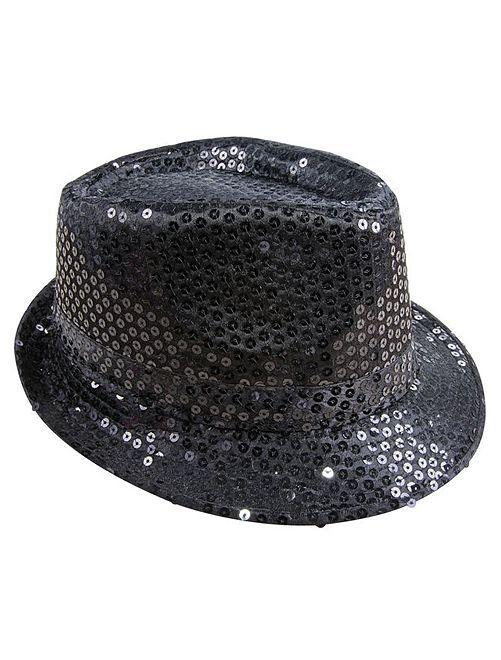 Chapéu com lantejoulas                                                     Preto