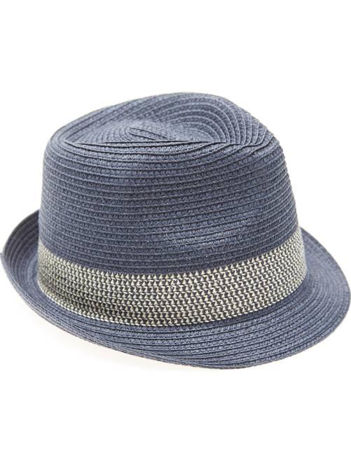 Chapéu em forma borsalino                             Azul Marinho Menino 3-12 anos