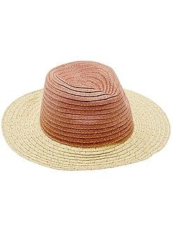 Chapéu estilo panamá bicolor