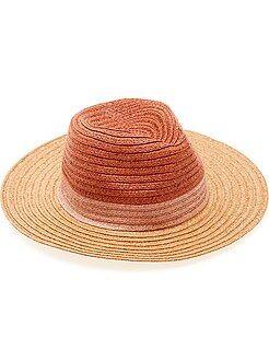 Chapéu estilo panamá tricolor