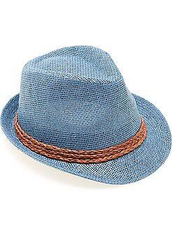 Acessórios - Chapéu panamá com bordo curto