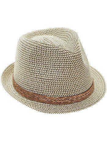 Menino 3-12 anos - Chapéu panamá com bordo curto - Kiabi
