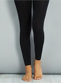 Collants, meias - Collants, leggings interiores em malha polar - Kiabi