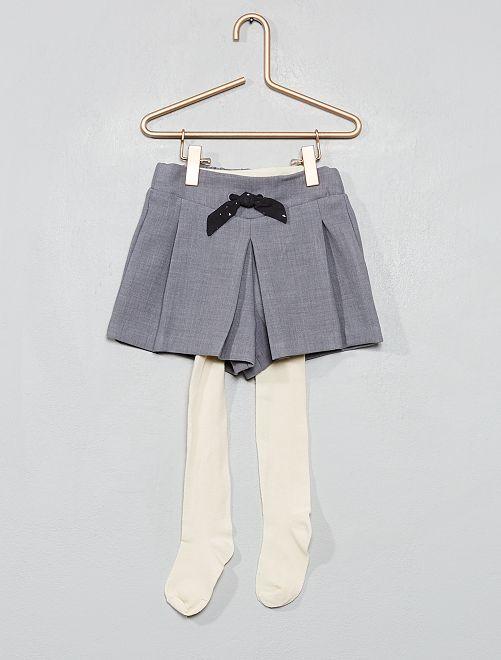 Conjunto calções + collants                                         Cinza